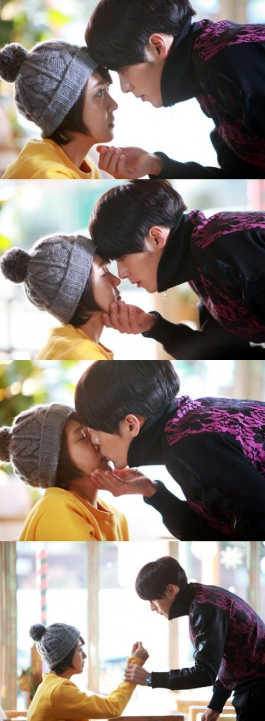 "This moment was soo cute I almost died!! Had me wanting to put cream on my lips too...too bad dudes in real life probably wouldn't react the way Kim Joo Won did!! Lawd he was quite the wooer! Sigh ""Secret Garden"""