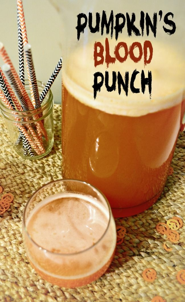 Pumpkin's Blood Punch | Halloween punch made with Fanta Orange Soda ...