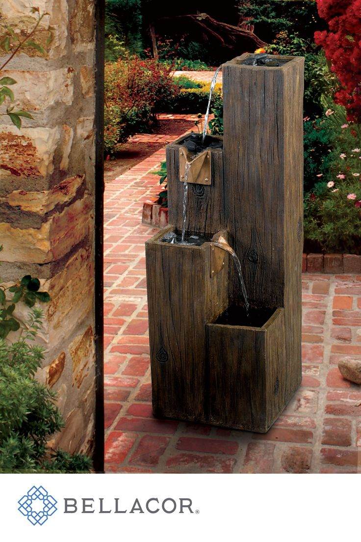 163 best images about outdoor living on pinterest more for Wooden pond waterfalls
