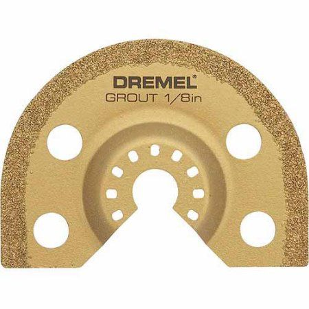 Dremel MM500 Multi-Max 1/8 inch Grout Removal Oscillating Tool Blade, Multicolor