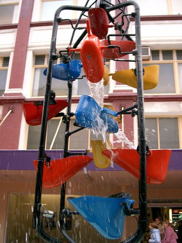 The Bucket Fountain is recognised as one of Wellington's quirkiest and most well-known landmarks, which resides at the very heart of Cuba Mall. (Photo courtesy of Flickr)