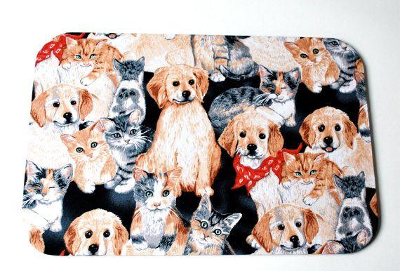 Mousepad Dogs & Cats Untersetzer Ablage von Arsunica auf Etsy, €11.00