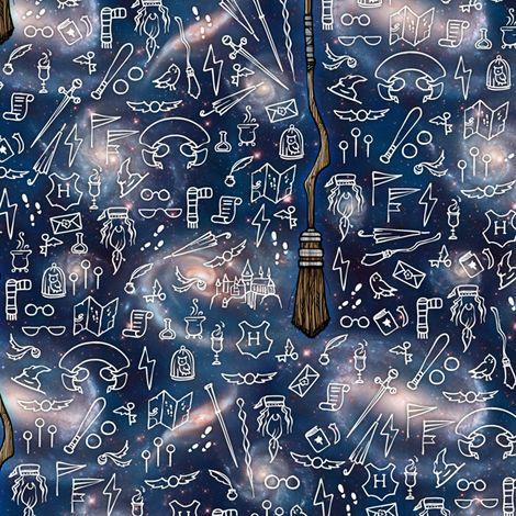 Harry Potter mini nimbus fabric by versodile on Spoonflower - custom fabric