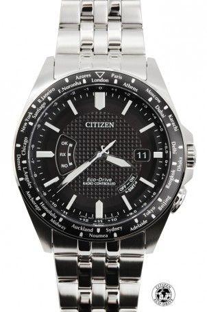 Cher Papa, cette montre...est faite pour toi! Montre Citizen Radio-pilotée Acier bracelet acier CB0021-57E, #FDTIMEFY
