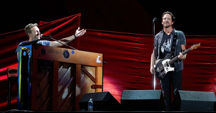 Coldplay's Chris Martin and Pearl Jam's Eddie Vedder staged a surprise collaboration at Global Citizen Festival, performing a three-song set together.