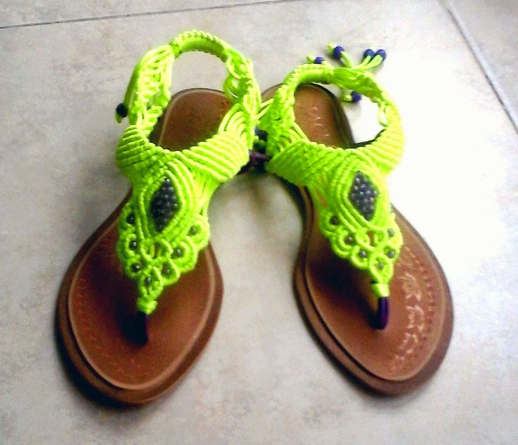 184 best macrame shoes images on Pinterest | Micro macrame, Zapatos ...