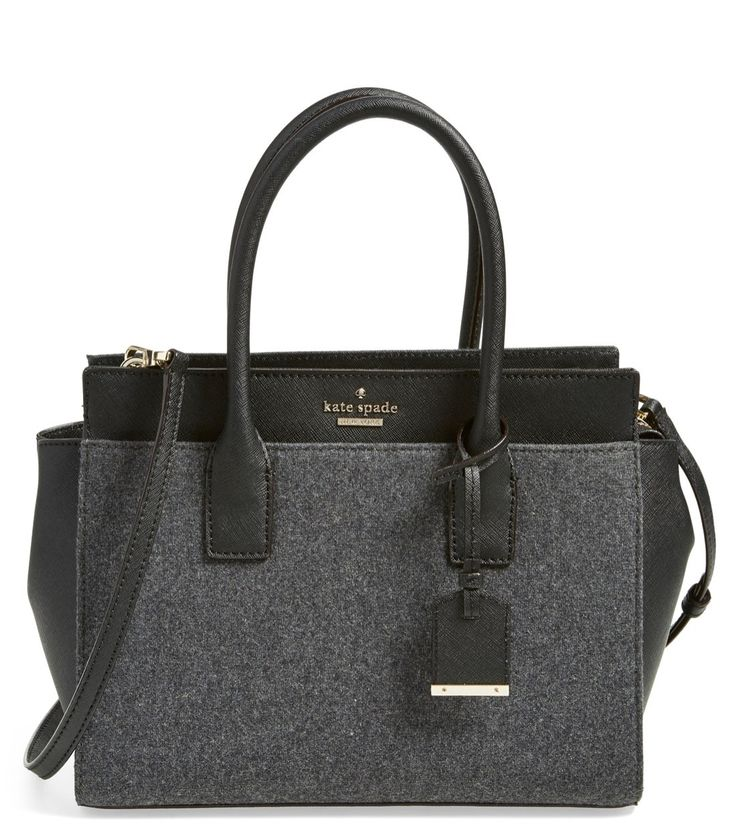 The heather grey felt and classic silhouette makes this Kate Spade satchel the perfect carry-all for fall.