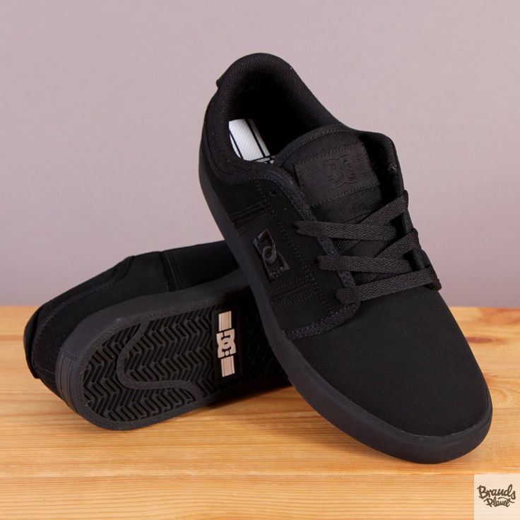 Męskie buty sportowe na czarnej podeszwie DC RD Grand Black / www.brandsplanet.pl / #dc shoes #skateboarding