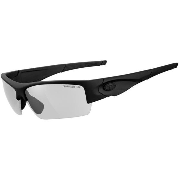 Tifosi Sunglasses - Lore Tactical Matte Black w/Clear Lenses (140 BRL) ❤ liked on Polyvore featuring accessories, eyewear, sunglasses, tifosi glasses, clear lens glasses, clear lens sunglasses, matte sunglasses and matte glasses