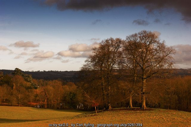 """An historic parkland designed by Lancelot """"Capability"""" Brown with Edwardian gardens in Reigate. This particular view is towards Merstham."""
