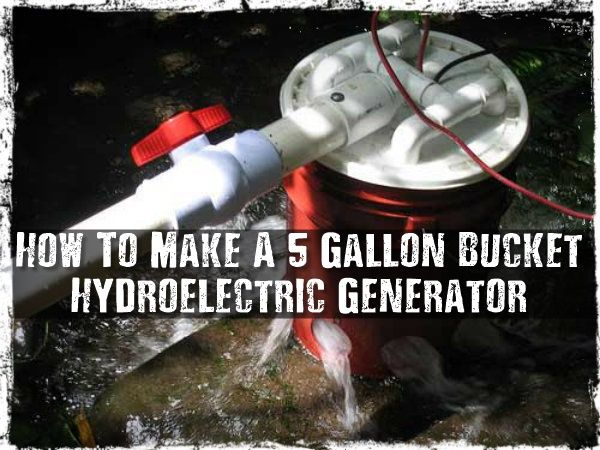 How To Make A 5 Gallon Bucket Hydroelectric Generator - This is a very…