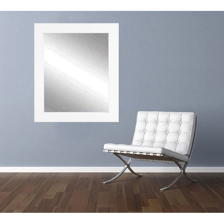 BrandtWorks Designers Choice Classic Wall Mirror - Matte White - BM003M3