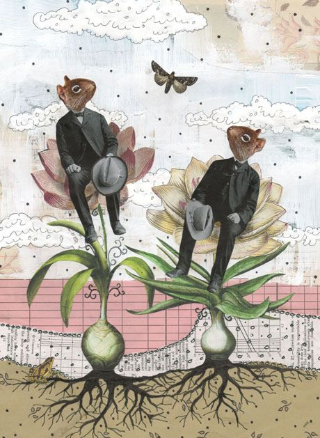 """""""Shooting the Breeze"""" #collage by Sarah Ogren"""
