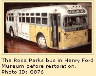 On December 1, 1955, Rosa Parks, a 42-year-old African American woman who worked as a seamstress, boarded this Montgomery City bus to go hom...