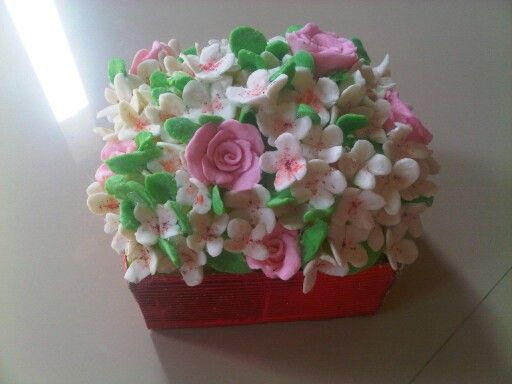 Flower soap'clay