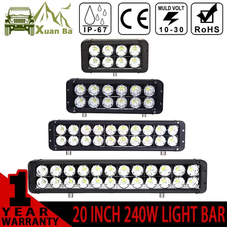 Best price US $81.90  XuanBa 10W*Led Light Bar 24V Combo Beam For 4x4 Off road ATV SUV Boat Tractor Truck 12V 180W Driving bar Lights Led Work Lamp