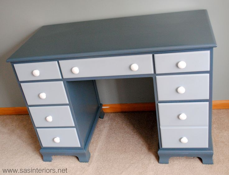 Painted Two Toned Desk Tips On Painting Furniture