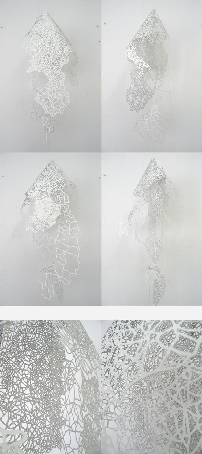Samuel Coisne, expo sur la dentelle de papier, Cité de la Dentelle de Calais.