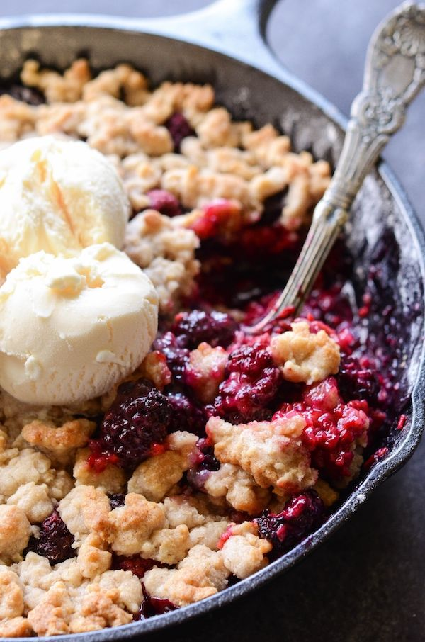 Skillet Berry Cobbler - perfect classic berry cobbler in a cast iron skillet via: @Pinxer