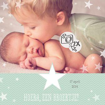 Een broertje! - Geboortekaartje www.carddreams.be