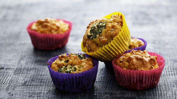 Madmuffins med skinke og broccoli