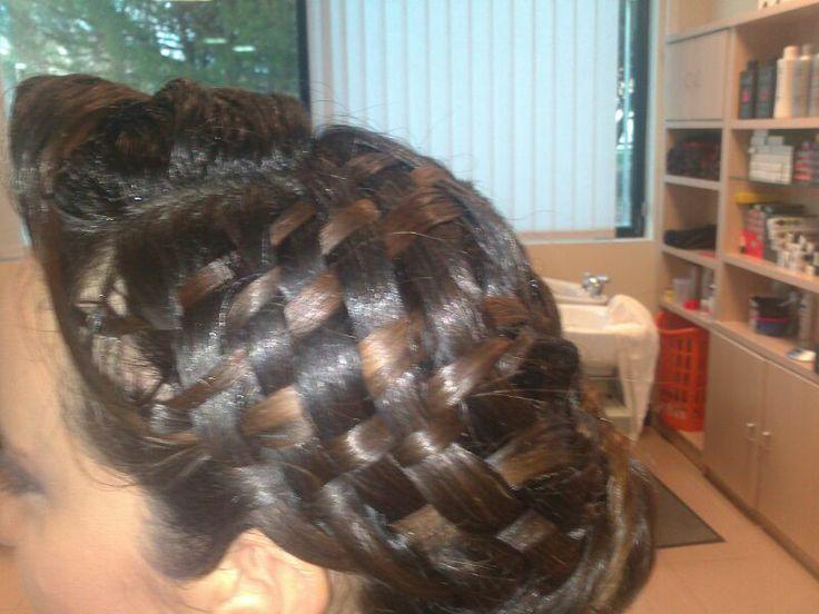 cesteria en el cabello