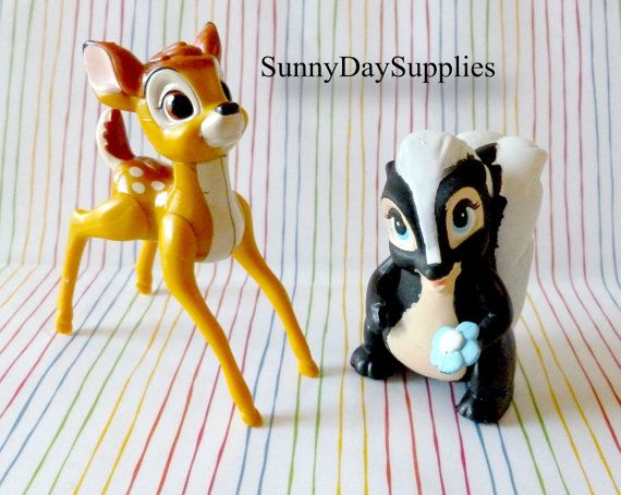 Vintage McDonald's Happy Meal Toys, Disney, BAMBI Characters - Bambi and Flower Toys - 1988 - Bambi Toys by SunnyDaySupplies