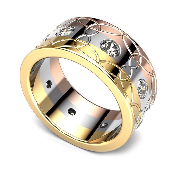 Multi colour diamond band.    www.uwekoetter.com