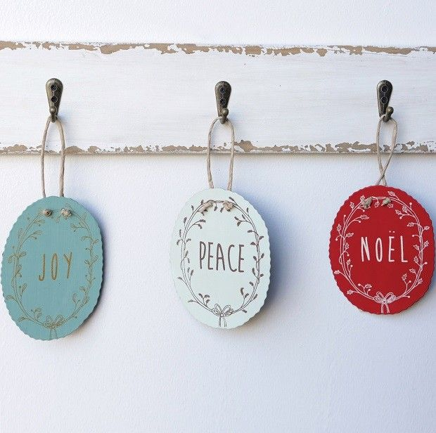 Hand Painted Christmas Ornaments | Christmas Decorations | Unique Gift Tags Antique Farmhouse