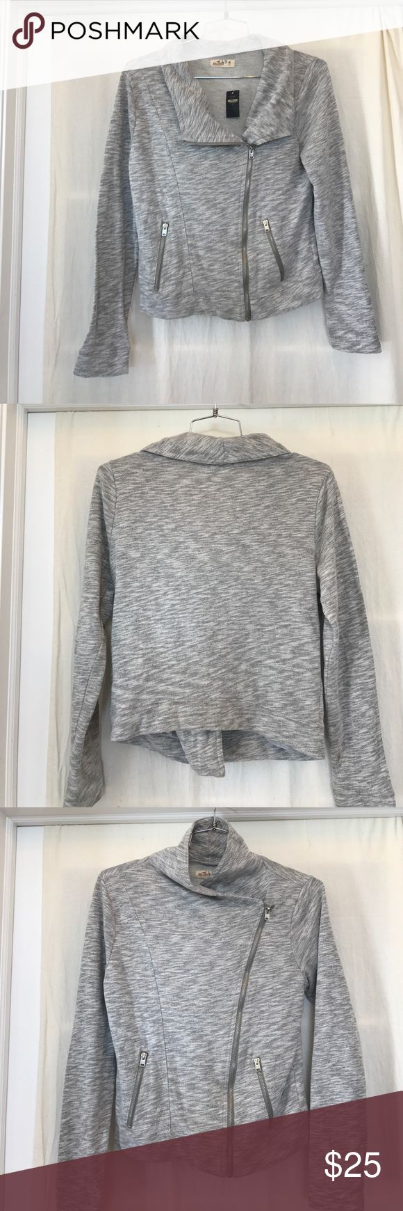 New With Tags Hollister Asymmetrical Jacket. Awesome Hollister jacket. Silver metal zippers. 80% cotton. Gray, size M. Brand new! Hollister Jackets & Coats