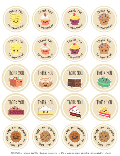 Bake Sale Printable Labels Set | Worldlabel Blog