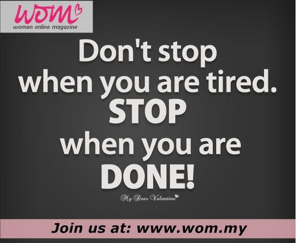 Motivasi pagi yang bermakna buat tantapan bersama ... Layari www.wom.my...