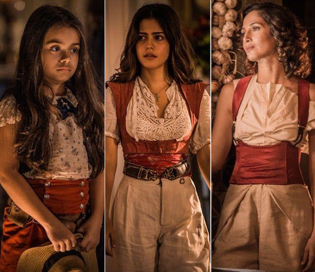 Maria Tereza (Camila Pitanga) figurino faixa vermelha, segunda fase figurino, roupas.  Costume Brazilian Soap Opera Velho Chico