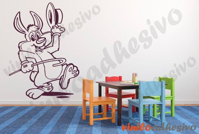 Conejo bailarín - Vinilo decorativo infantil