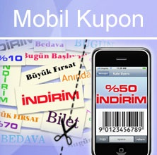 Mobil Kupon; düzenlenen bir mobil pazarlama kampanyası kapsamında tüketiclere gönderilen, bir ürün, hizmet ya da servise ilişkin indirim yerine geçen elektronik bilete verilen isimdir.