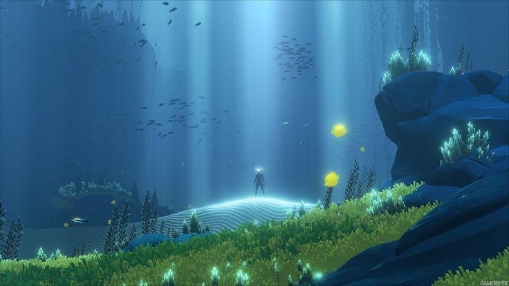 『風ノ旅ビト』元スタッフのPS4『Abzû』幻想的で超美麗な1080pスクリーンショットが公開! : ゲームかなー                                                                                                                                                                                 もっと見る