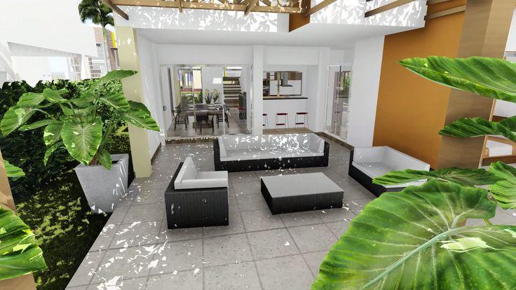 Diseño escogido por un grupo de promotores inmobiliarios para un conjunto de 11 casas en el norte de Montería, Córdoba, Colombia. Casas de 220 m2 en dos pisos.