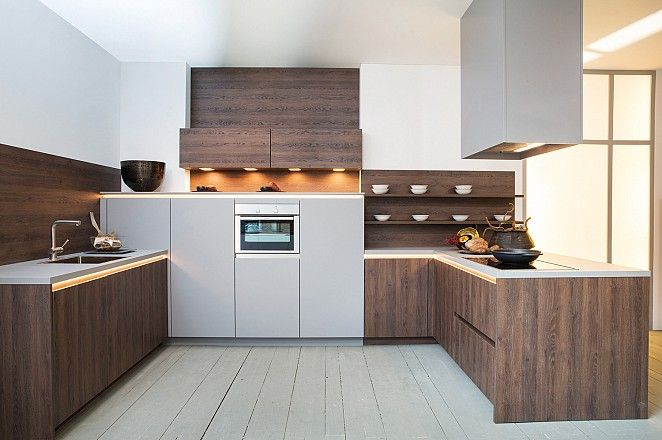 ... Twee Kleuren Keuken op Pinterest - Keukenkasten, Keukens en Kasten