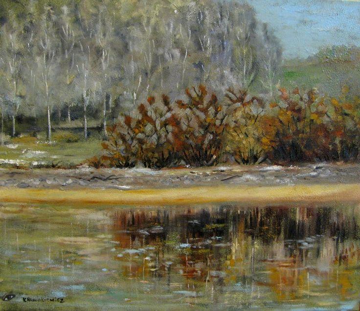 Pejzaż,60x70,olej