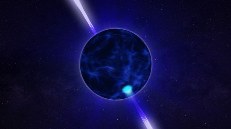 animation showing aspects of a pulsar
