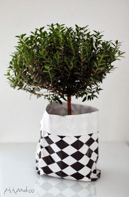 Paper bag hides the ugly pot