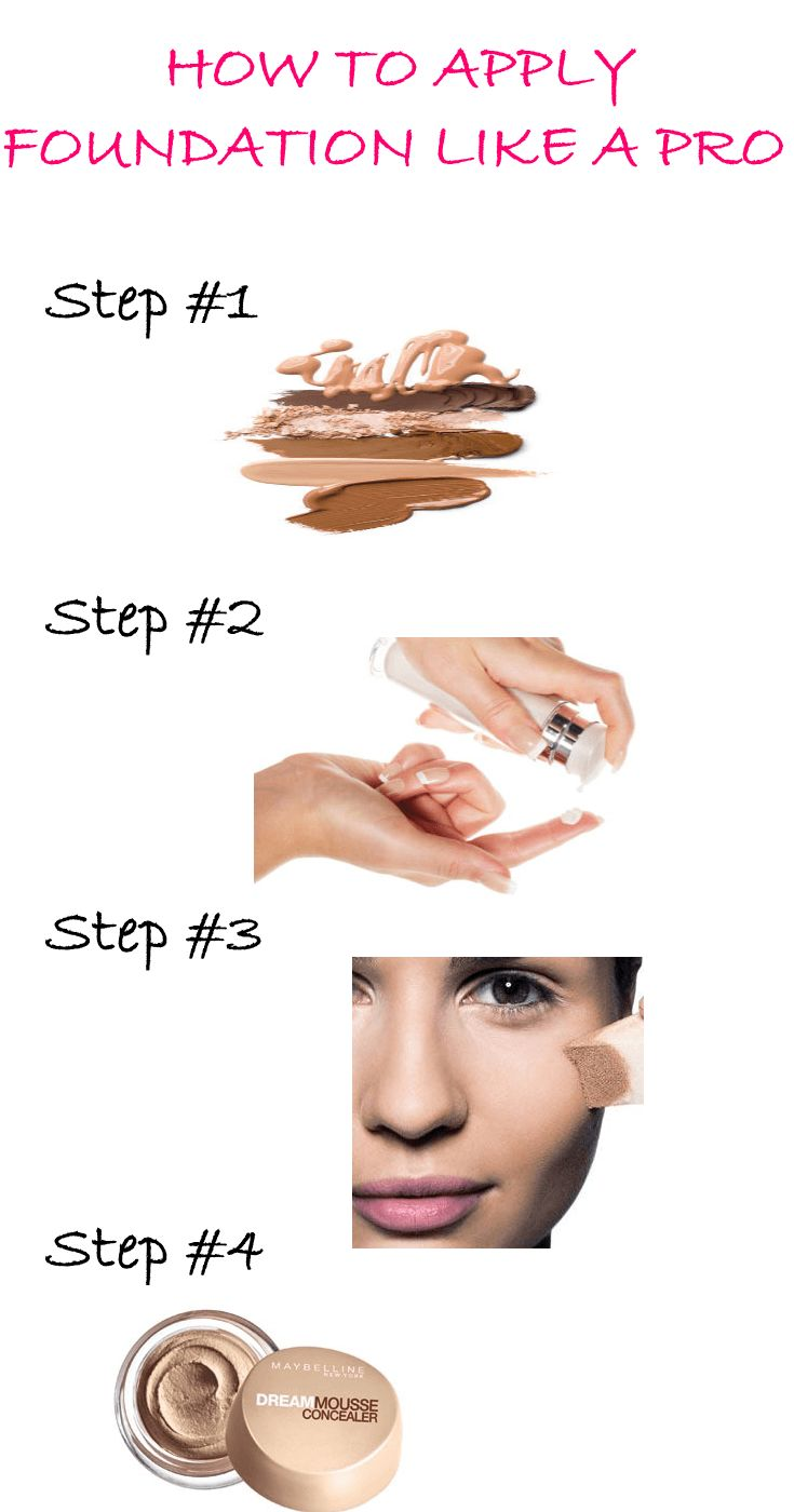 New to makeup? Not to worry! Step by step easy to follow tutorial on how to apply foundation like a pro!