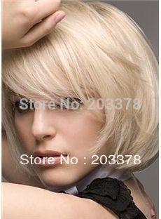 Последние Короткий Прямой Боб Блондинка Парики Из Синтетических Волос для женщин/леди/девушка 10 шт./лот заказ смешивания 10 шт./лот бесплатная доставка