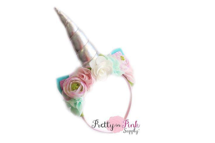 Pastel Floral Silver Unicorn DIY Kit #340- DIY Kit- Unicorn Headband- Kit- Rainbow Headband- Magical Unicorn Headband by PrettyInPinkSupply on Etsy https://www.etsy.com/listing/486221023/pastel-floral-silver-unicorn-diy-kit-340