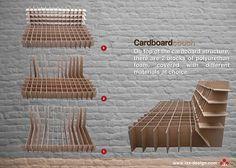 cardboard design by romanian designer Alexandra Ioan