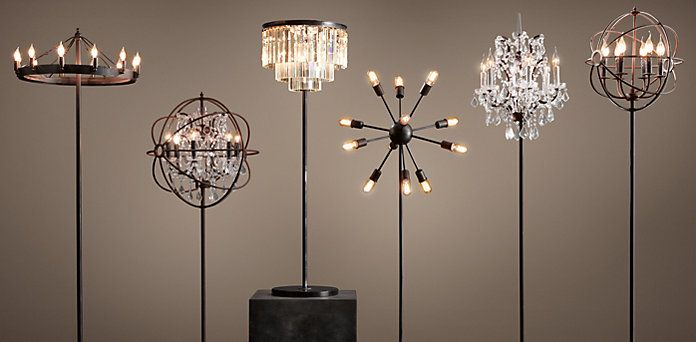 "Restoration Hardware does ""chandelier"" floor lamps. LOVE!"
