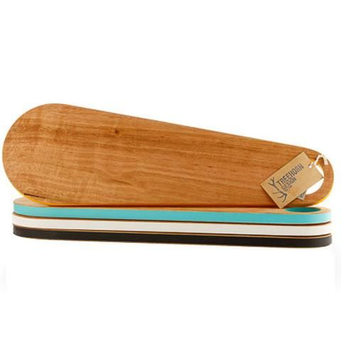 Kitchen Board/Cheese Board Paddle made from recyled timber made by #Treehorn
