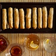 Feta Walnut Date Cigars - great holiday hors d'oeuvre