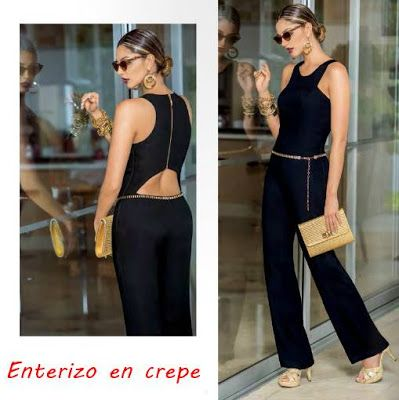 Enterizo de color negro, Ebba Verano 2015