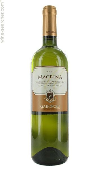2013 Garofoli Verdicchio Classico Superiore, Macrina, 13%  Straw yellow with greenish hues, minerals, light fruits, and floral hints on the nose. It's dry, quite fresh, lightly warm with a medium body on the palate--hints of pear, apple, and minerals. BP: Buy
